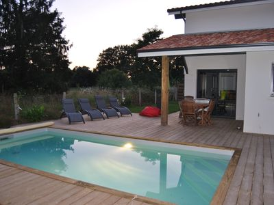 Photo for New villa from 2018 with heated pool near Hossegor