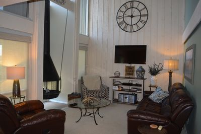 Living room is located on the main floor