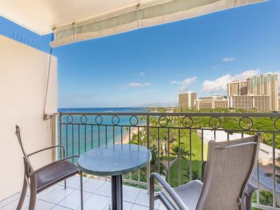 Photo for Bright Ocean View! A/C, Kitchenette, WiFi, Flat Screen+ More! Waikiki Shore #1004