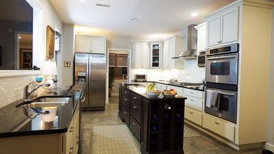 Gourmet kitchen with island is available for your use