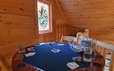 Play a game of poker without ever leaving the comforts of the cabin