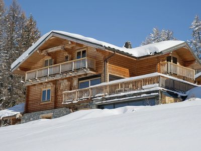 Photo for 12-person luxury chalet in Plagne-Centre with fireplace and spa