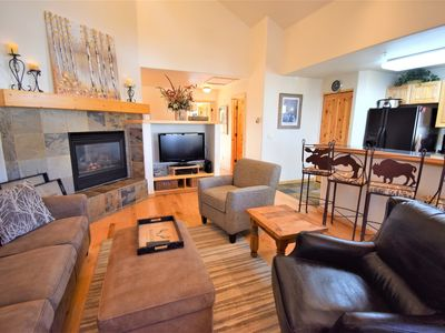 "Photo for Ski-In Condo! Walking distance to the free gondola, the free bus (""Summit Stage"" out front of the complex) and Main St. Breckenridge!"