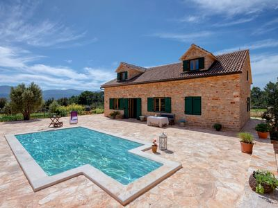 Photo for Clemency Villa - Stunning Recently Renovated Traditional Stone Villa with Private Pool and Mountain Views and just 800 meters from the Sea! Free WiFi