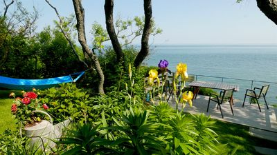 Photo for Renovated Waterfront Cottage With Spectacular Views And Private Beach