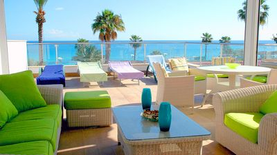 Photo for Superb beach front   luxury Appartment  Fig Tree Bay  Protaras  Cyprus