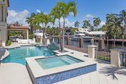 Mediterranean Style Waterfront Luxury Vacation Home | Pool - Dock | by Beach