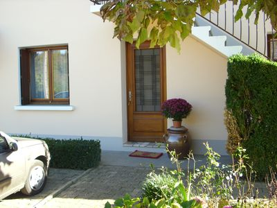 Photo for Ground floor apartment of 65m² in pleasant village and relaxing