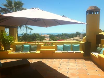 Photo for BEAUTIFUL VILLA ANDALOU STYLE ALL COMFORT -BELLE SEA VIEW AND MOUNTAIN-