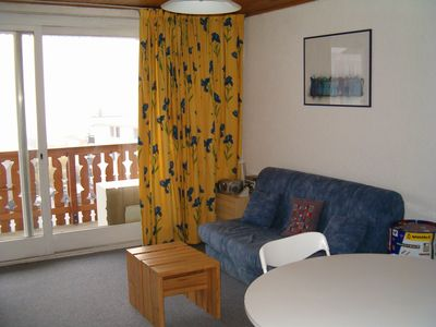Photo for Large South facing studio, resort center Alpe d'Huez, at the foot of a beginner slope