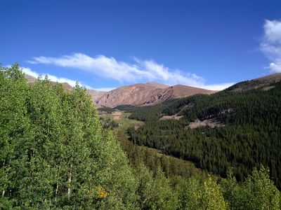 Photo for The Retreat is a log cabin overlooking Empire Gulch near Leadville, Colorado