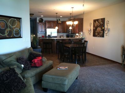 Photo for 3 BR/2 BA Condo with TRUE Lake Front views on the 1st Floor!!