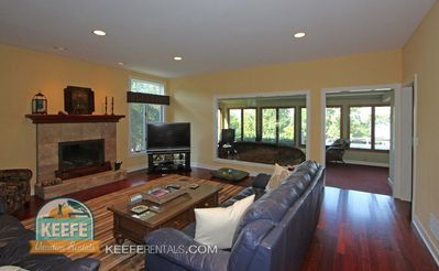 Photo for Lakefront Home on the South Shore of Geneva - Private Pier! - Birch View Waters