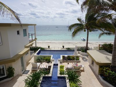 Photo for Casa Toucan 1 - Beautiful Beachfront near the Town Square of Puerto Morelos
