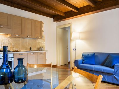 Photo for A cosy apartment for four, in a prestigious palazzo in the pedestrian center of Como.