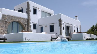 Photo for WHERE CONVENIENCE MEETS LUXURY. Amazing Villa ASTRA 5 Bedrooms Private Pool PAROS Island. The Ultimate Retreat for Large Families or Groups of Friends
