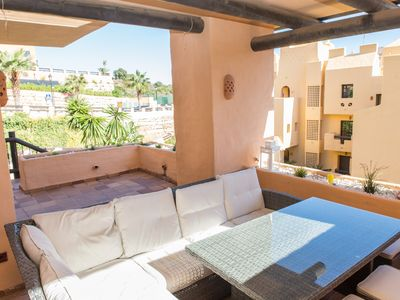 Photo for Stylish 3 bedrooms apartment with large sunny terrace in Coto Real La Duquesa!