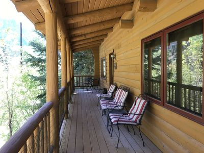 Photo for Cozy Log Cabin - Overlooking Uncompahgre River -  1 Mile to Downtown Ouray
