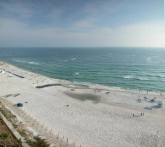 VIEW OF BEACH & GULF FROM OUR BALCONY