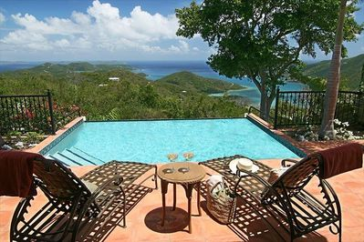 225 degree unobstructed views extend 30 miles to Virgin Gorda. See 11 islands!