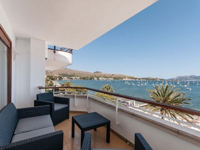 Photo for Apartment facing the sea in the center of Port Pollença, amazing views