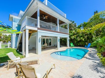 Photo for NEWLY Built Home with Sunset Views! Block to Beach w/ Heated Pool & Lanais