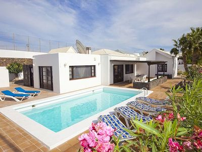 Photo for This charming three bedroom, three bath villa is located in the delightful clifftop area in the old
