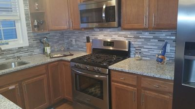 Stainless steel appliances and all kitchen necessities