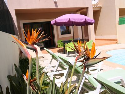 Photo for Burgau - End of row townhouse, full A/C, private pool, walk to the beach.