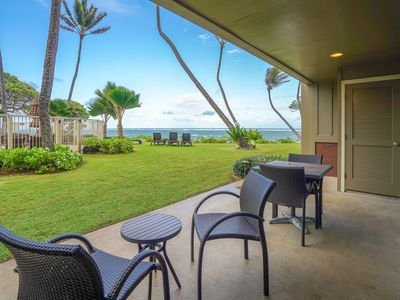 Photo for Waterfront condo on ground floor w/ shared pool, ocean views, & beach access