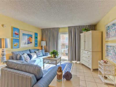 Photo for Oceanfront Condominium Great for Families with Pool, Beach Access, Fitness Center, Tennis