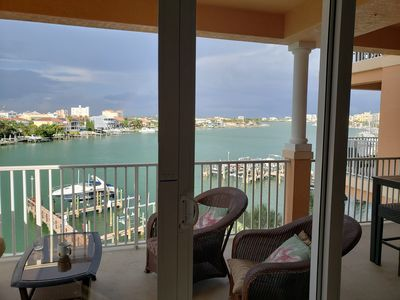 Photo for Waterfront 3 bedrooms/2 bath luxurious 1850  Wi-fi,cable,pool (sleeps 8)