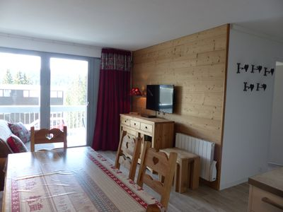 Photo for Apartment 3* Flaine Fôret 2 bedrooms South facing, bed linen and cleaning included
