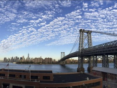 Photo for Stunning Waterfront Views! Modern Bldg, Huge Deck, Gym, Williamsburg Brooklyn