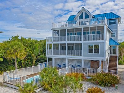 Photo for Captiva Beach Sunset - Gulf Front 5 BR with Pool, 3 Golf Carts, NCIC Membership
