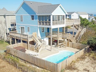 Photo for 4 Br. Oceanside with Pool, Hot tub, pet friendly and Short walk to beach!