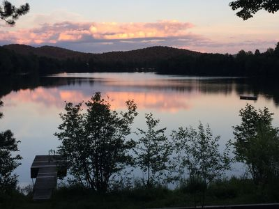 Photo for Lakefront home in Old Tremblant with hot tub