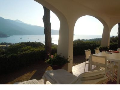 Photo for House with beautiful sea view, about 600 meters from the beach area Campo all'Aia