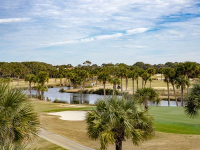 Photo for Second Floor 2BR/2BA! Sensational golf and lagoon views! Elevevator! Amenity Cards! Pet Friendly!