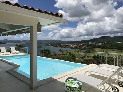 Photo for Luxury villa, 10 people, infinity pool, beautiful sea and golf views