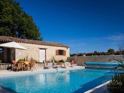 Photo for Lovely Large Longère Farmhouse in the Aquitaine with Salt Water Pool