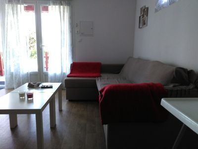 Photo for Nice apartment. on heights Hendaye 0608974742 with parking, WIFI and terrace
