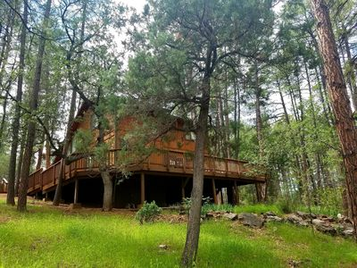 Photo for New Listing! - Renovated Cozy Cabin - No Pet Deposit - Palms to Pines
