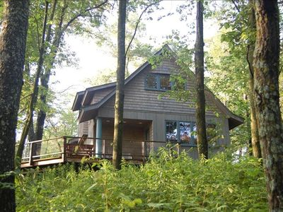 Photo for Scenic Luxury Cabin, Secluded Woods, Blue Ribbon Trout Stream