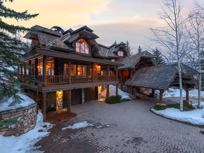 Photo for Luxury Log Cabin Estate near Village, Perfect for Multiple Families, Long-Term Stays: Holden Lodge