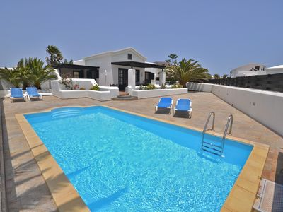 Photo for Beautiful  villa & Heated pool& Internet, full SKY& international TV