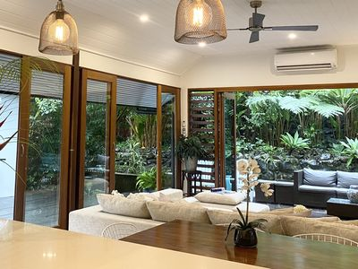Photo for Perfect Retreat - Tropical and Private - Hear the Surf - Walk to Tallow