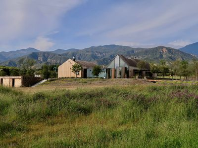 Photo for Scandinavian Farmhouse w/ Infinity Pool, Guest Cabana, Tennis, 10 Acres, Bocce