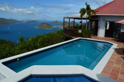High Point Villa overlooking Sopers Hole, St Thomas and St John USVI