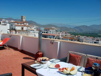 Photo for Restored 3 bed house in the heart of Salobreña's old town, huge terrace & views